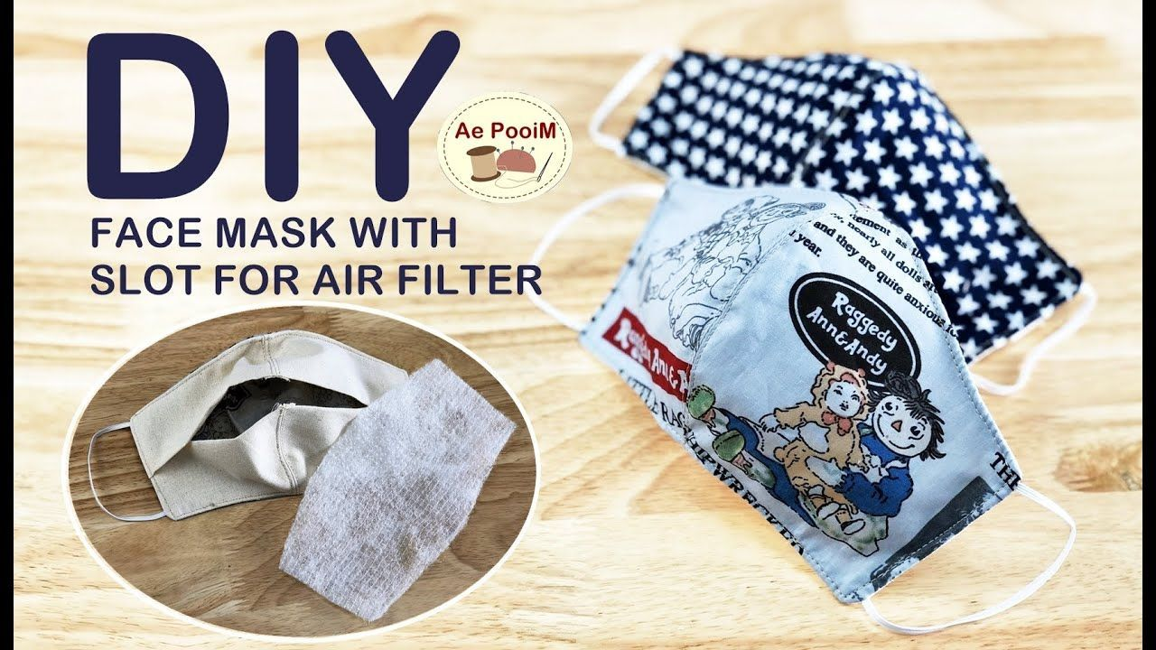 DIY FACE MASK WITH SLOT FOR FILTER // How to make a mask