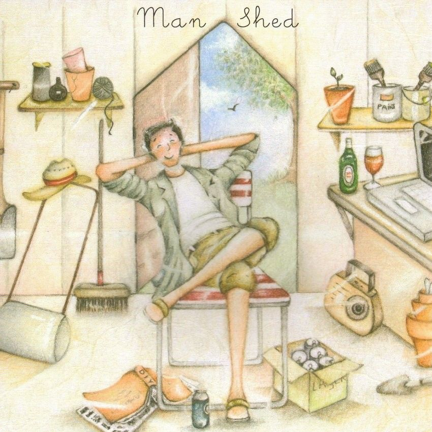 Man Shed Male Birthday Card Berni Parker Designs