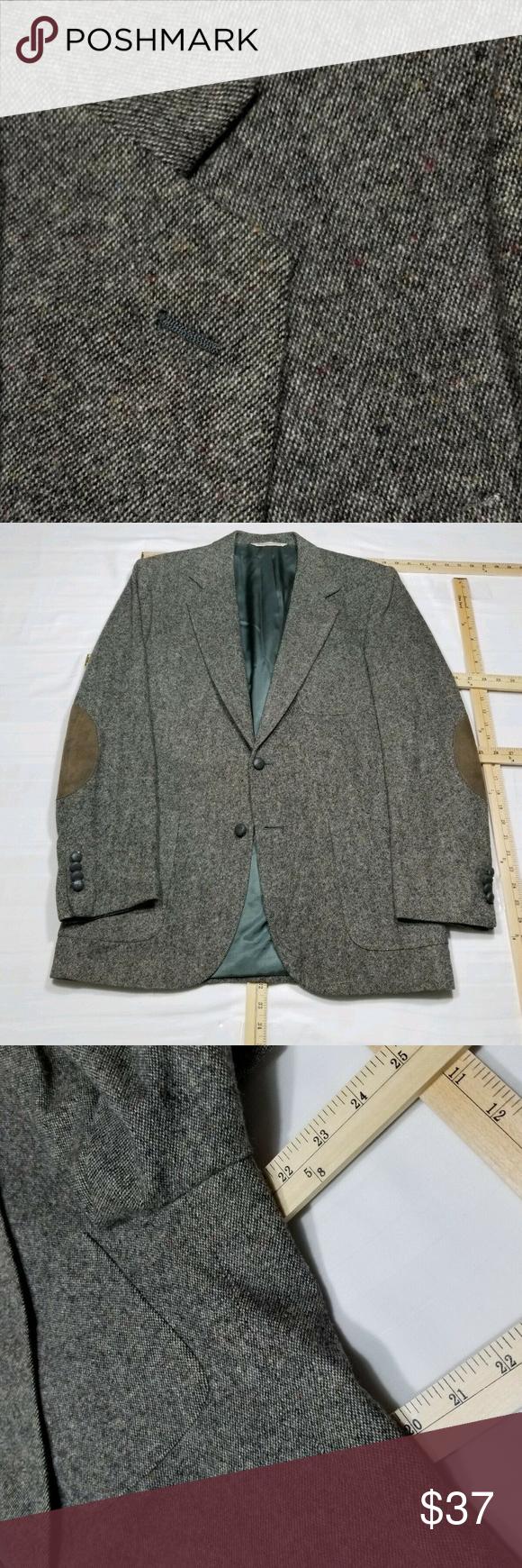 J. Lindeberg Wool Sport Coat Blazer Gray 52 Men's Men's