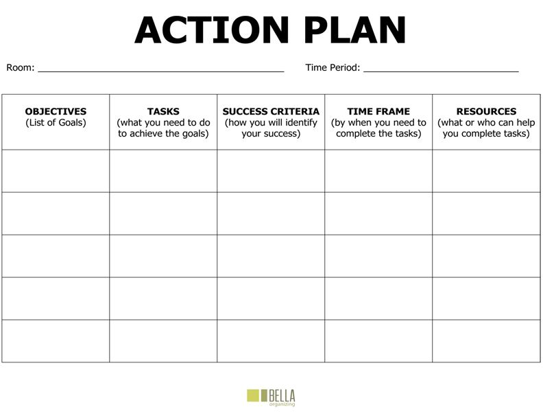 Free Action Plan Template Action Plan Pinterest Template