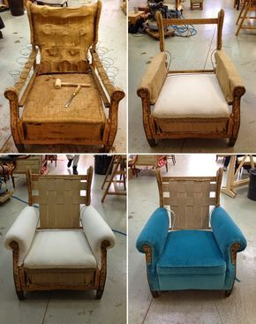 L Atelier De La Marquise Fauteuil Anglais Reupholster Furniture Diy Furniture Upholstery Upholstered Furniture