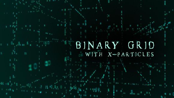Cinema 4D - Creating a Binary Grid using X-Particles Tutorial