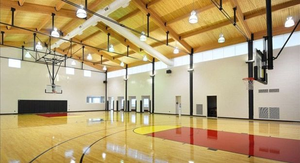 The Wildest Rooms In Celebrity Homes Home Basketball Court Indoor Basketball Court Celebrity Houses