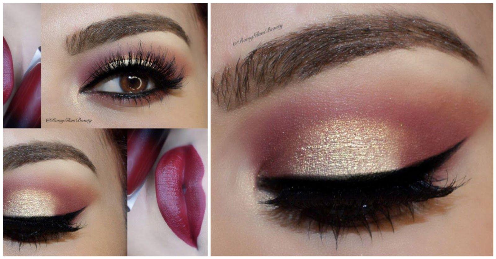 Maquillaje paso a paso como combinar maquillaje de ojo y el color -  Descubre Maquillaje En Dorado Y M S