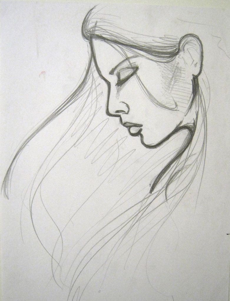 Simple Girl Sketches For Beginners Pencil Sketch