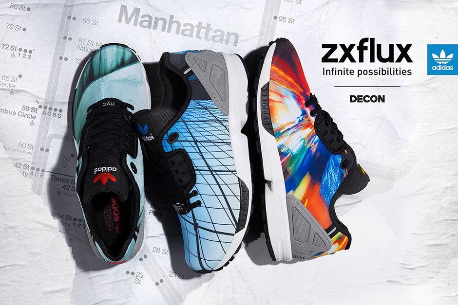 """adidas ZX FLux Decon """"NYC Prints"""" Pack"""