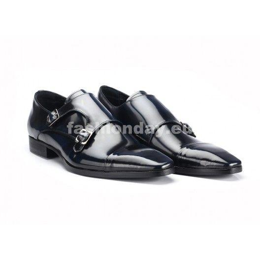 Lakované čierne kožené mokasíny s prackami COMODO E SANO - fashionday.eu