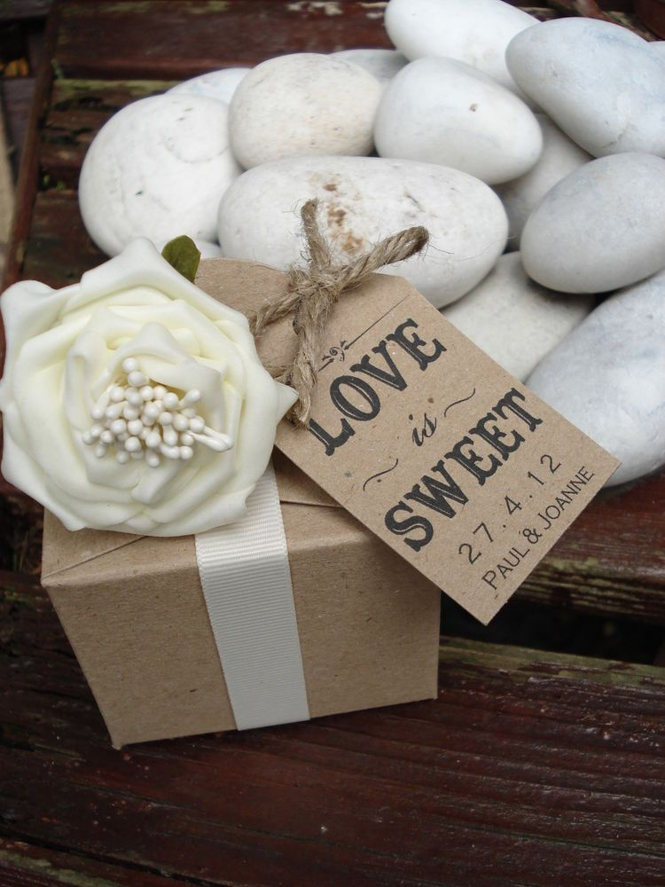 16 Personalised Vintage/shabby chic wedding favour/candy buffet tags