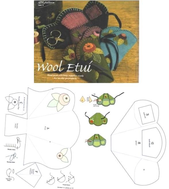 Crafts and Cia: alfineteiros and switchers - kits and sewing boxes