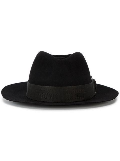 Maison Michel Black Rico Fedora Hat in 2019  103209f5d47