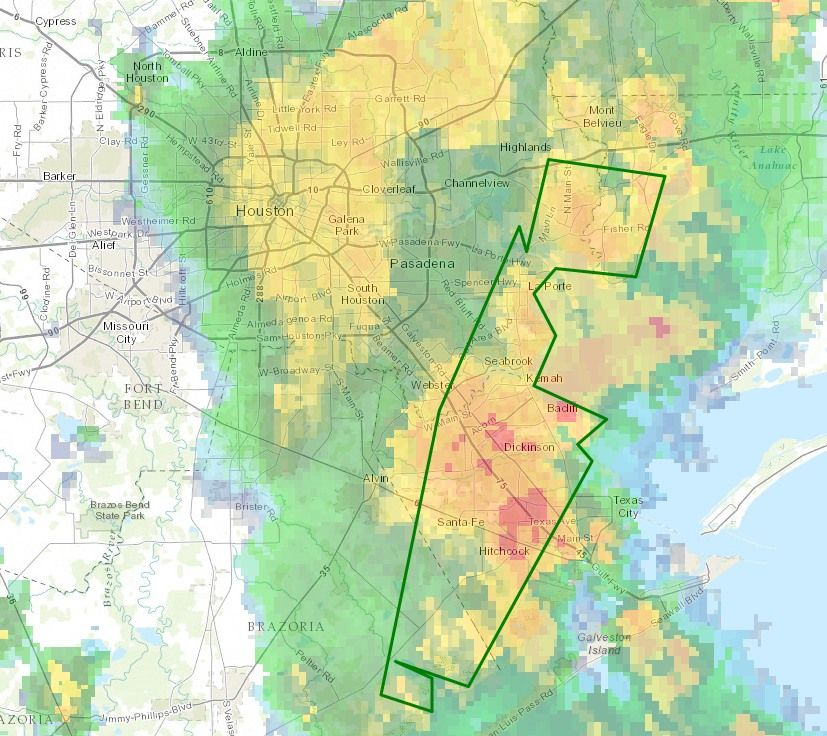 Flash Flood Watch extended for southeast Houston some areas have