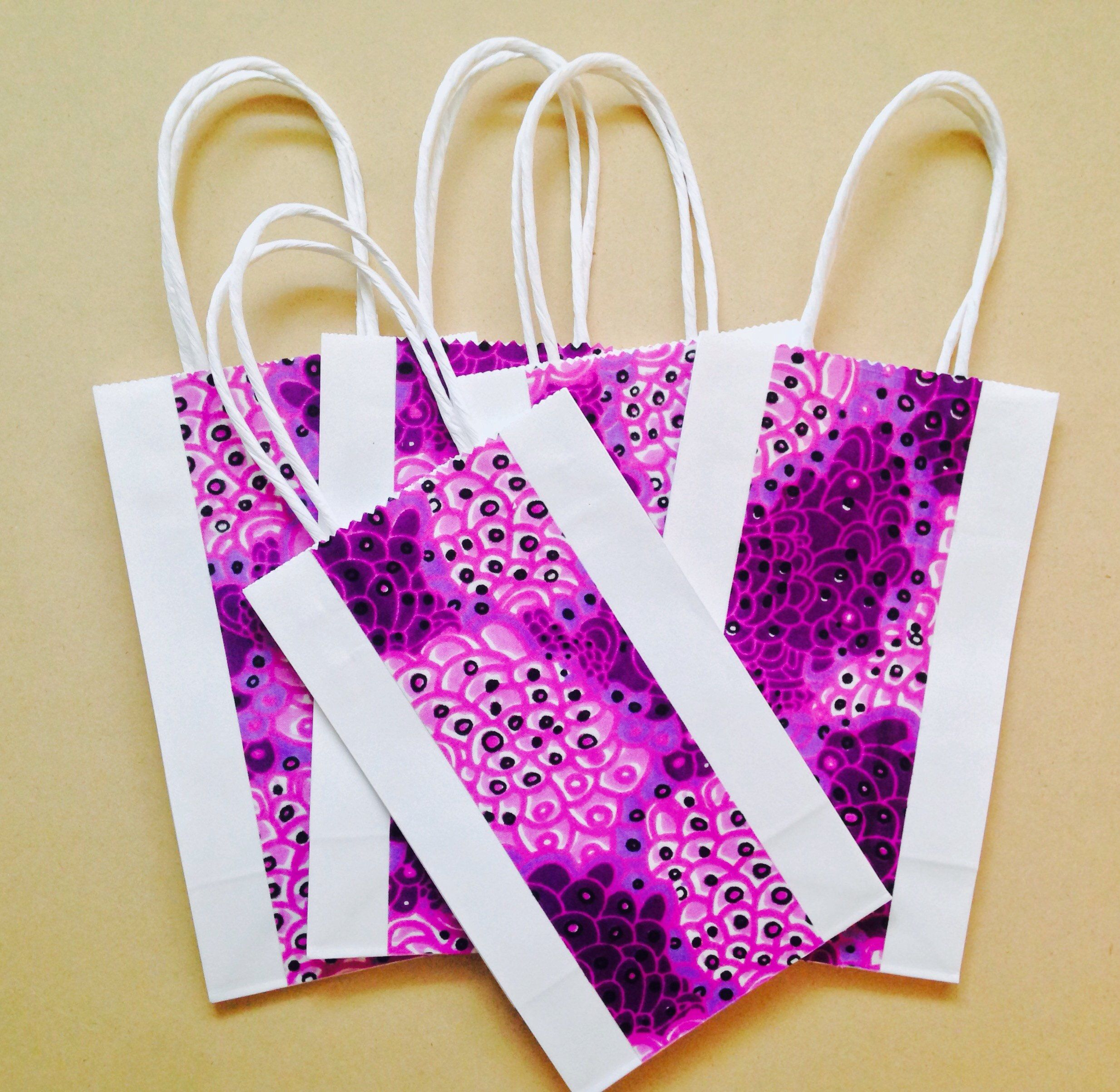 Bolsa- Wedding favor, Party bag, Small gift bag, African wax print ...
