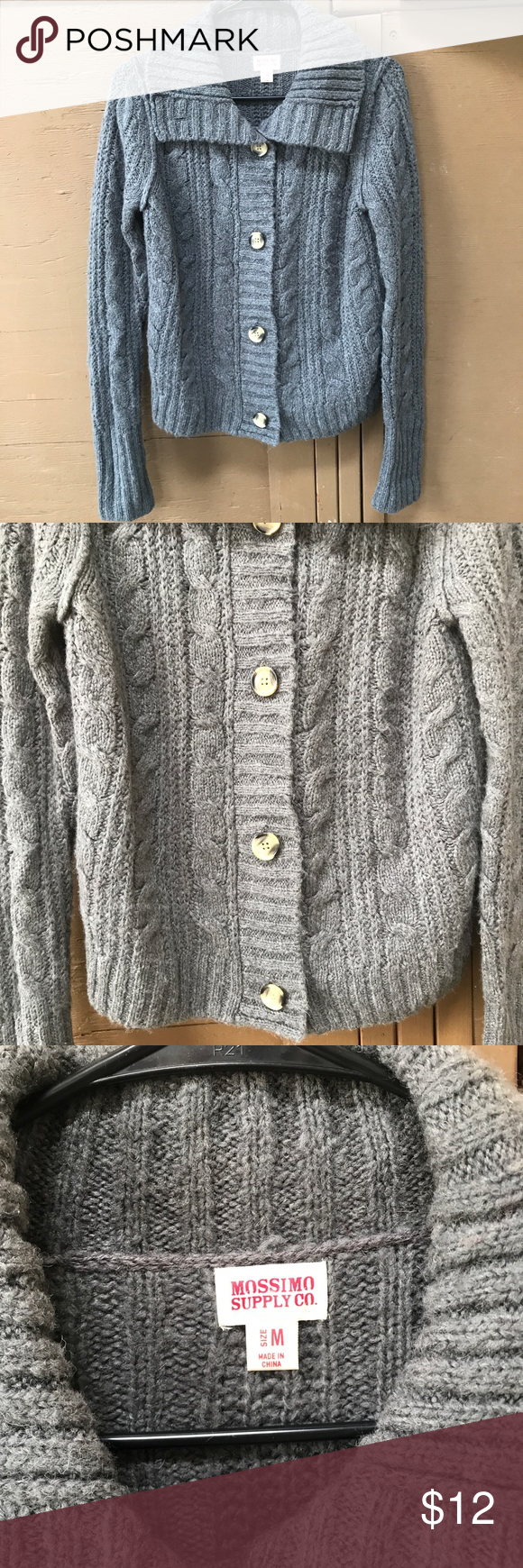 Mossimo Button up Sweater This is gently used with brown buttons ...
