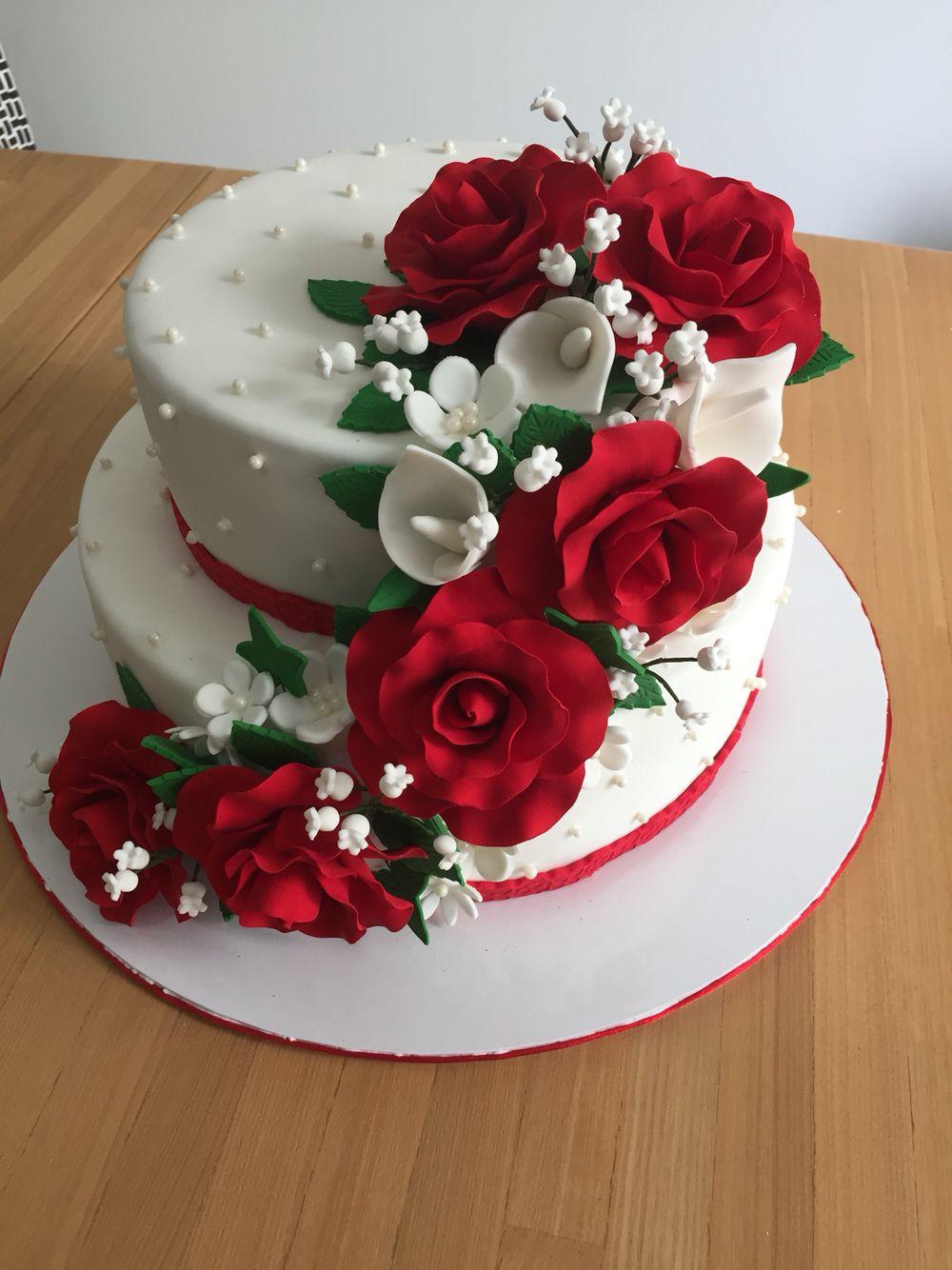 25th wedding anniversary cake Happy marriage anniversary