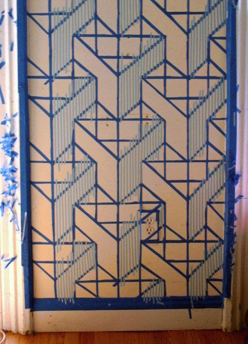 Painter S Tape Diy Contest Top 20 Finalists Group 2 Painters Tape Design Wall Painters Tape Wall Wall Paint Designs