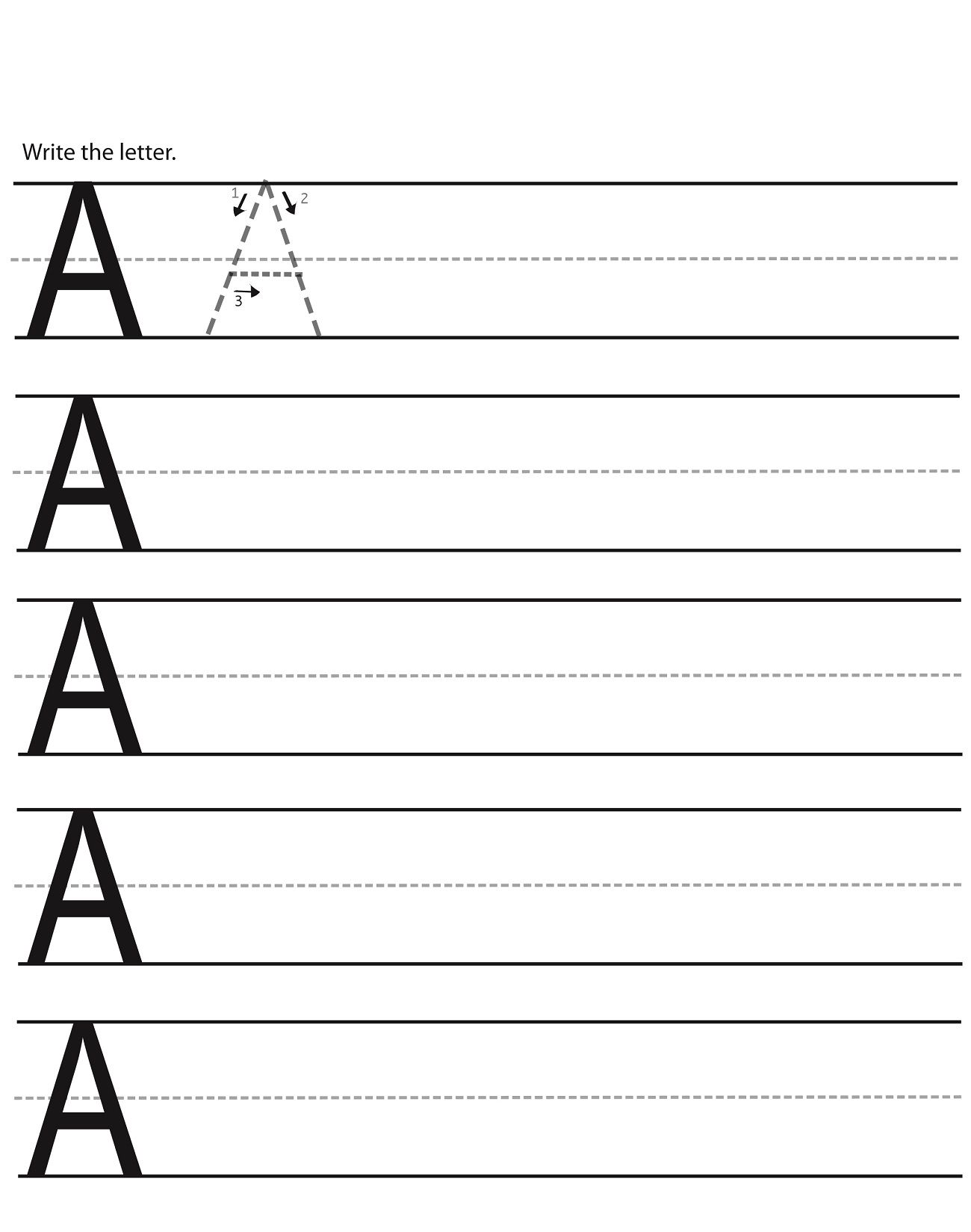 Alphabet Writing Worksheets For Kindergarten