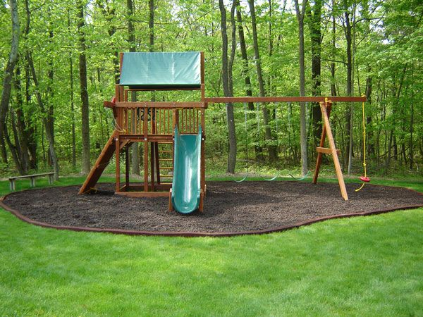 Playground With Brown Mulch