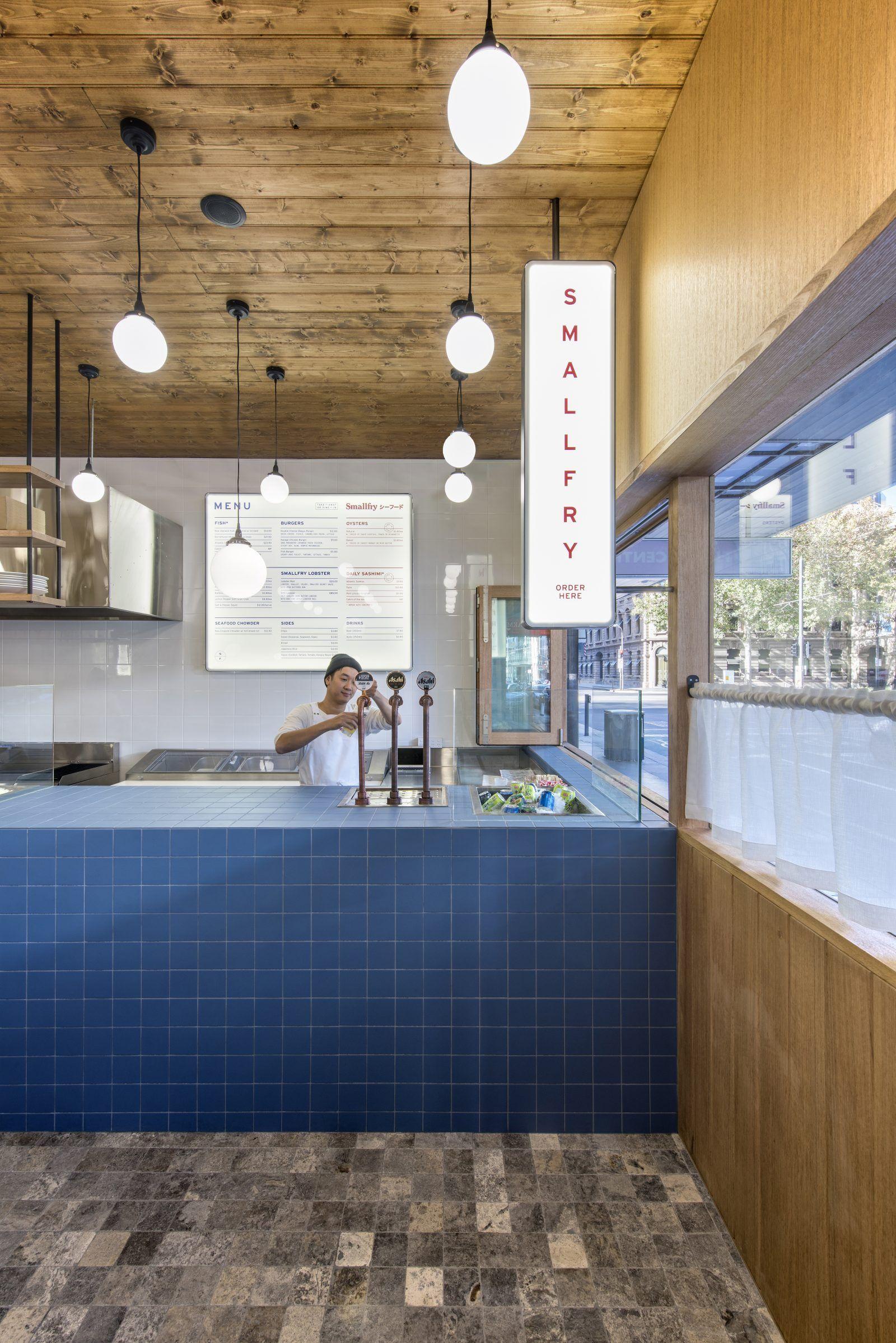 Sans Arc Studio Designs An Off Beat Fish And Chip Bar With A Japanese Twist Shop Interiors Restaurant Design Restaurant Decor