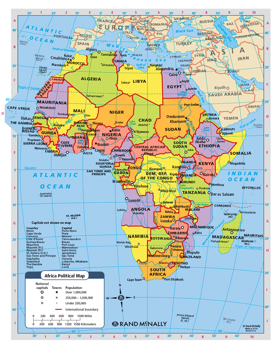 Map Of Africa Today | Twitterleesclub