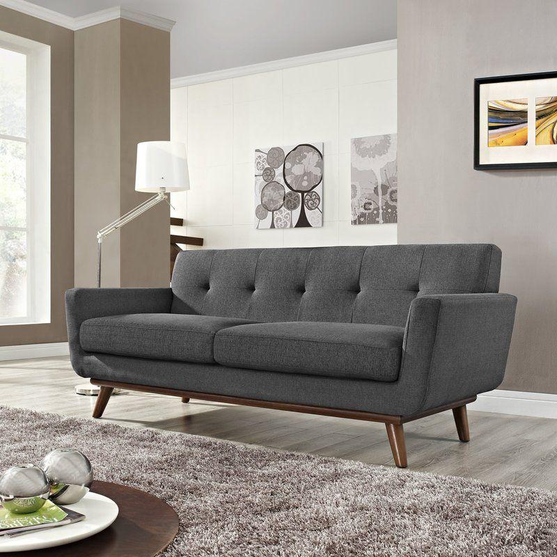 Johnston Tufted Upholstered Sofa Allmodern Living Room - Tufted upholstered sofa
