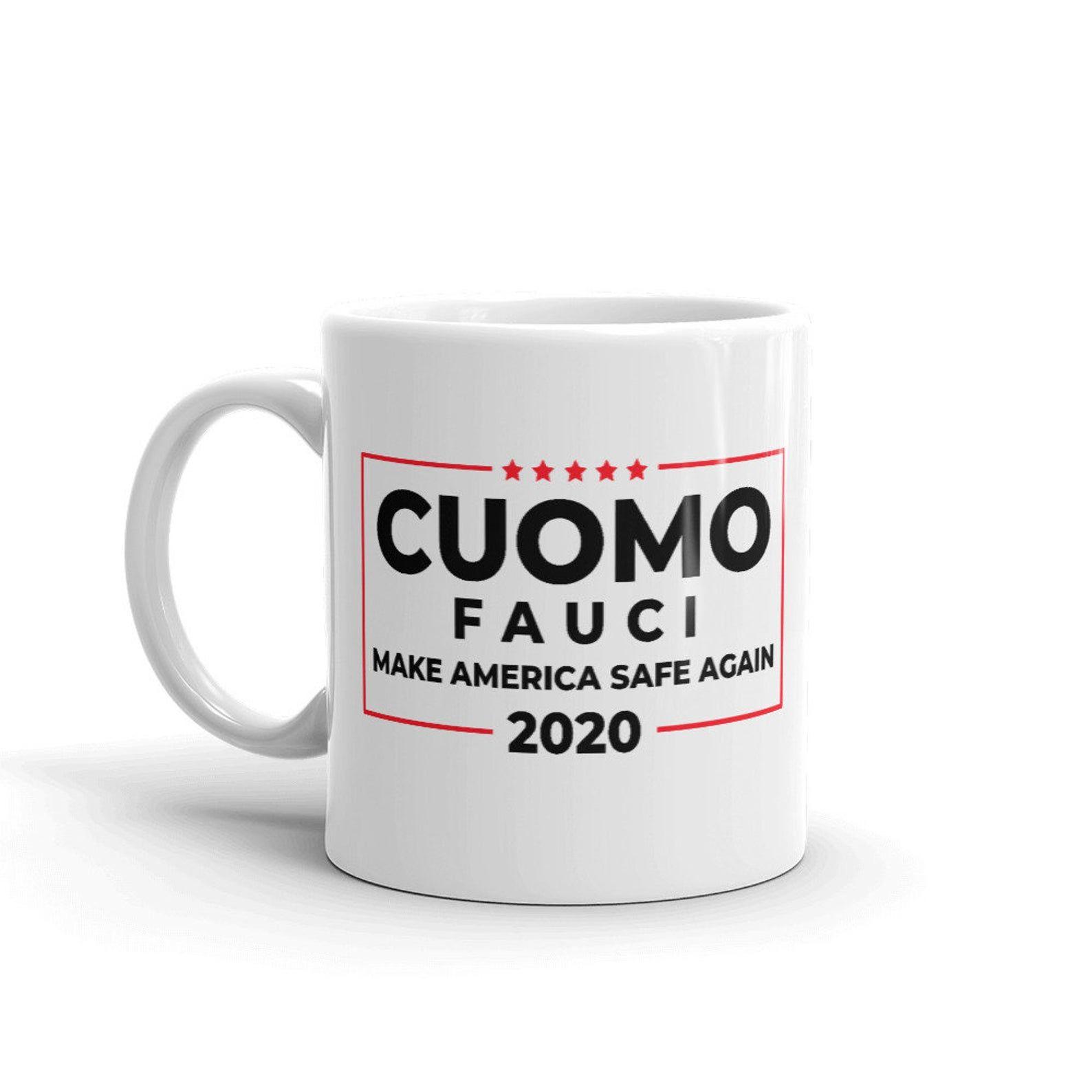 Cuomo Mug Governor Andrew Cuomo Anthony Fauci Gov Cuomo Etsy In 2020 Funny Coffee Mugs Mugs Cute Coffee Mugs