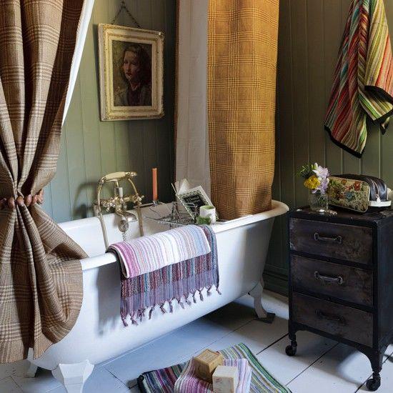 Country Bathroom Shower Curtain