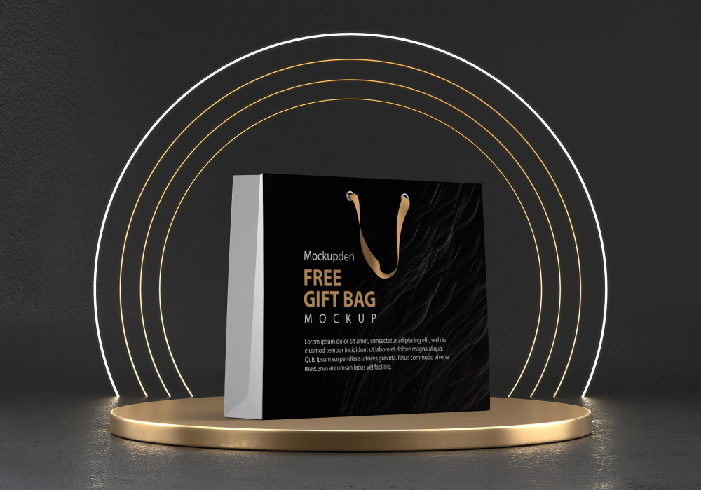 Download Free Paper Gift Bag Mockup Psd Template If You Are Looking For An Amazing And Elegant Gift Bag Mockup For Present Your In 2020 Paper Gift Bags Bag Mockup Paper Gifts