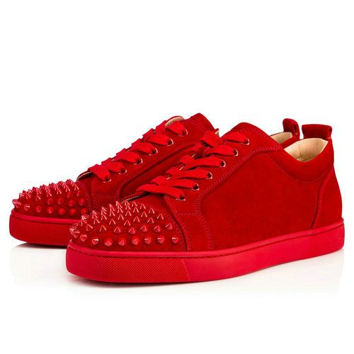 4dd8d200f39c Louis Junior Spikes Men s Flat - Red Bottom Christian Louboutin Shoes