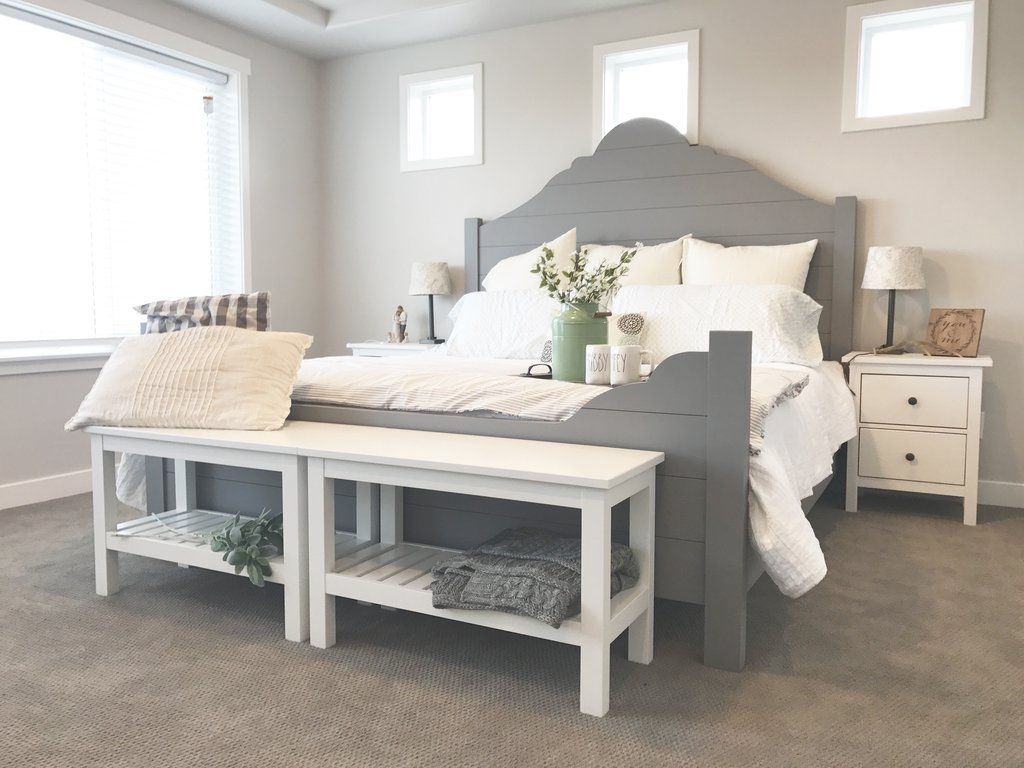 Fantastisch DIY Shiplap Bed Frame For The Home Bedroom