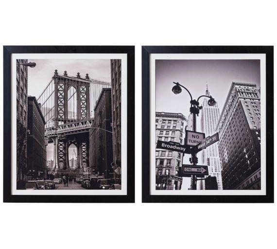 buy collection new york city framed prints set of 2 at argosco