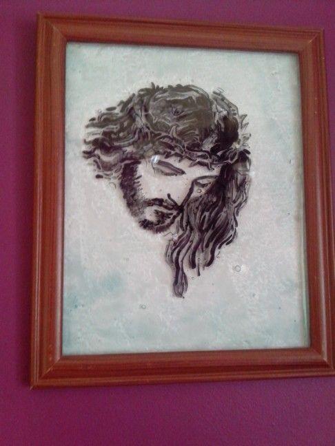 Imagen de Jesús....vitrofusion