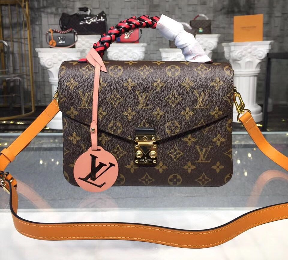 472c6792b907 Own a Louis Vuitton Monogram Canvas Pochette Metis with braided handle  M43984- USD 329. Free Worldwide Shipping.