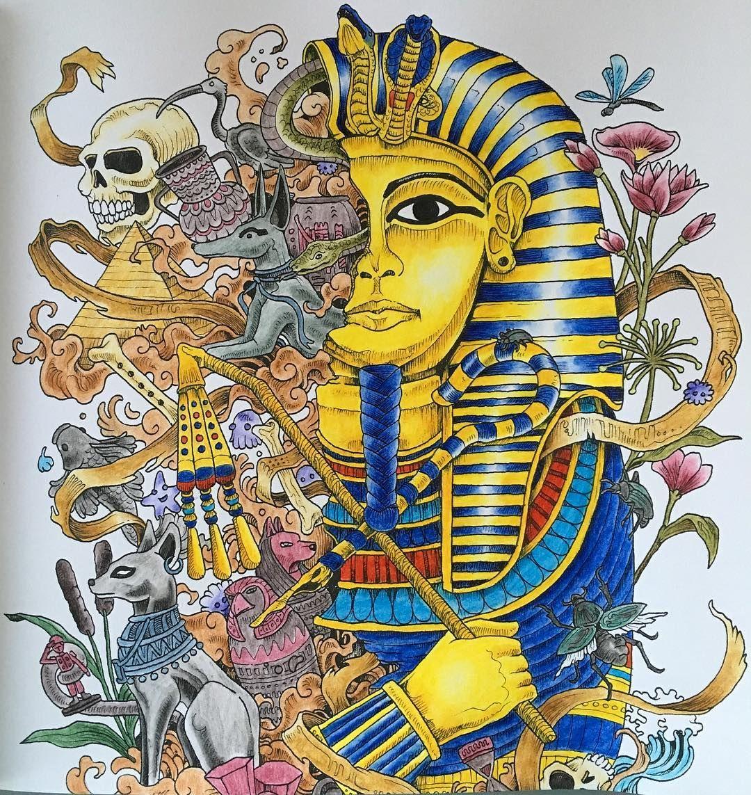 Imagimorphia Animorphia Kerbyrosanes Tutanchamon Egypt Pyramid Mumie Gold