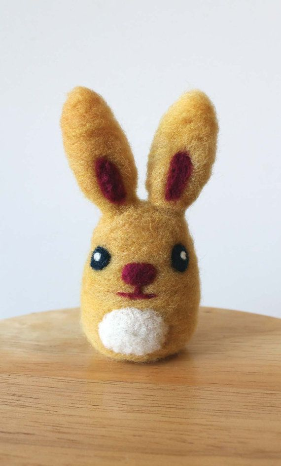 Needle Felted Yellow Bunny Rabbit Soft Sculpture  by kmwatkins, $35.00 https://www.etsy.com/listing/177581027/needle-felted-yellow-bunny-rabbit-soft