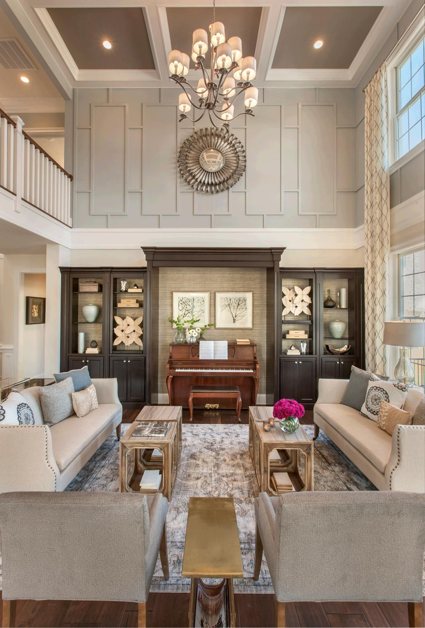 New Luxury Homes For Sale In Newtown Square Pa Liseter The Merion Collection High Ceiling Living Room Classic Living Room Design Family Room Design