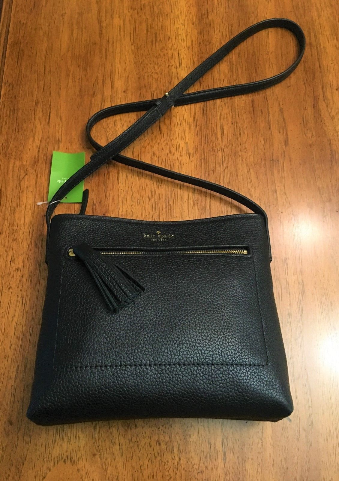NWT Kate Spade black designer purse - Chester Street WKRU 4073 black leather  NEW 6659768d3f154