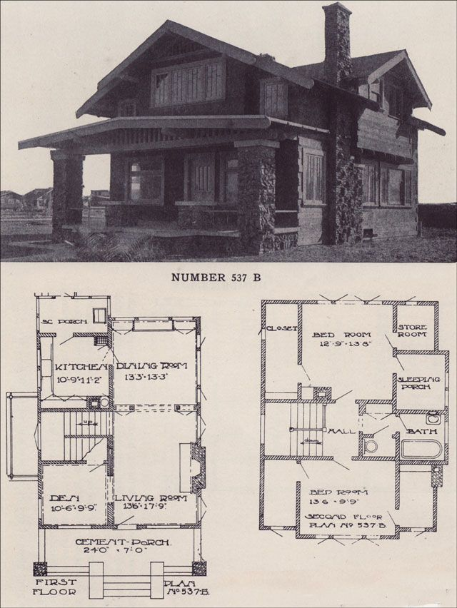 1912 California Two Story Bungalow Clinker Brick Jettied Second Floor Los Angeles Investment Company Craftsman House Clinker Brick Craftsman House Plans