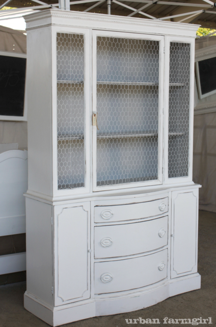 I need to find a cabinet like this on Craigslist, paint it, and add ...