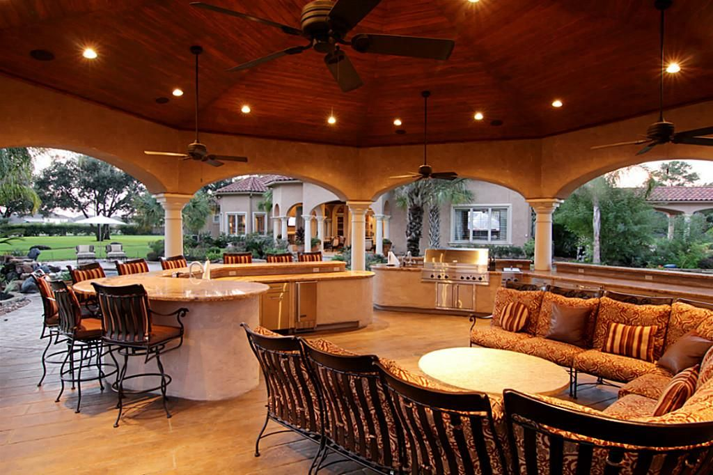 premiere outdoor kitchen entertainment area 1 063 sq ft w built in tv gas grill on outdoor kitchen tv id=94279