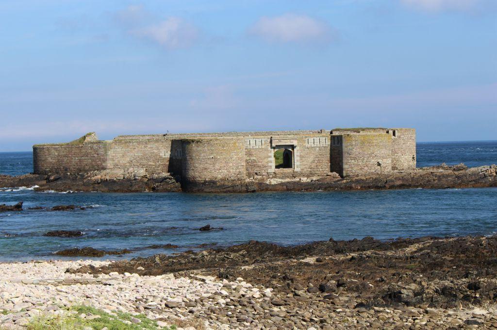 victorian fortress in the sea alderney british channel islands