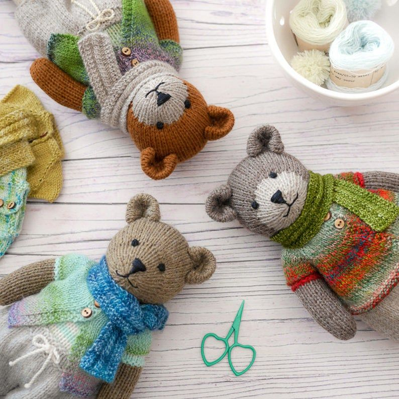 Sock Yarn Pinafores and Cardigans plus Little Bear Scarf ...