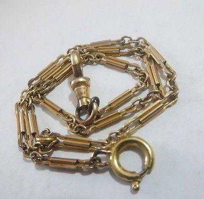 Vintage Gold Tone Pocket Watch Chain Vintage Pocket
