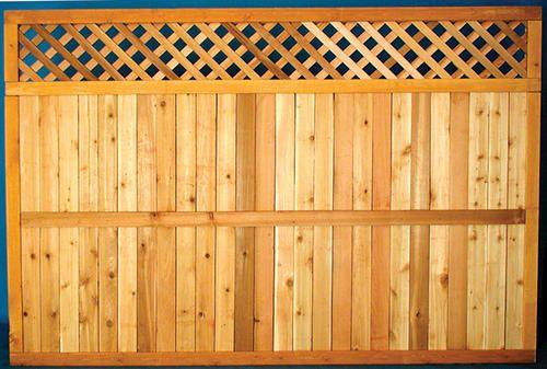 x Cedar Diamond Lattice Top Fence Panel at Menards®: x Cedar Diamond  Lattice Top Fence Panel - 5'4