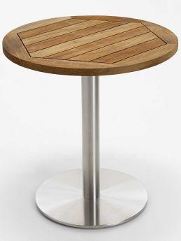 Niehoff Gartentisch Nita Rund Braun Niehoff Sitzmobel Tisch Teak