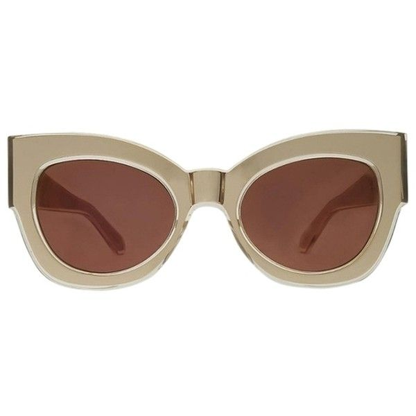 c06f58ab5012 Pre-owned Karen Walker Northern Lights Sunglasses ($225) ❤ liked on Polyvore  featuring accessories, eyewear, sunglasses, gold, mirror sunglasses, gold  lens ...