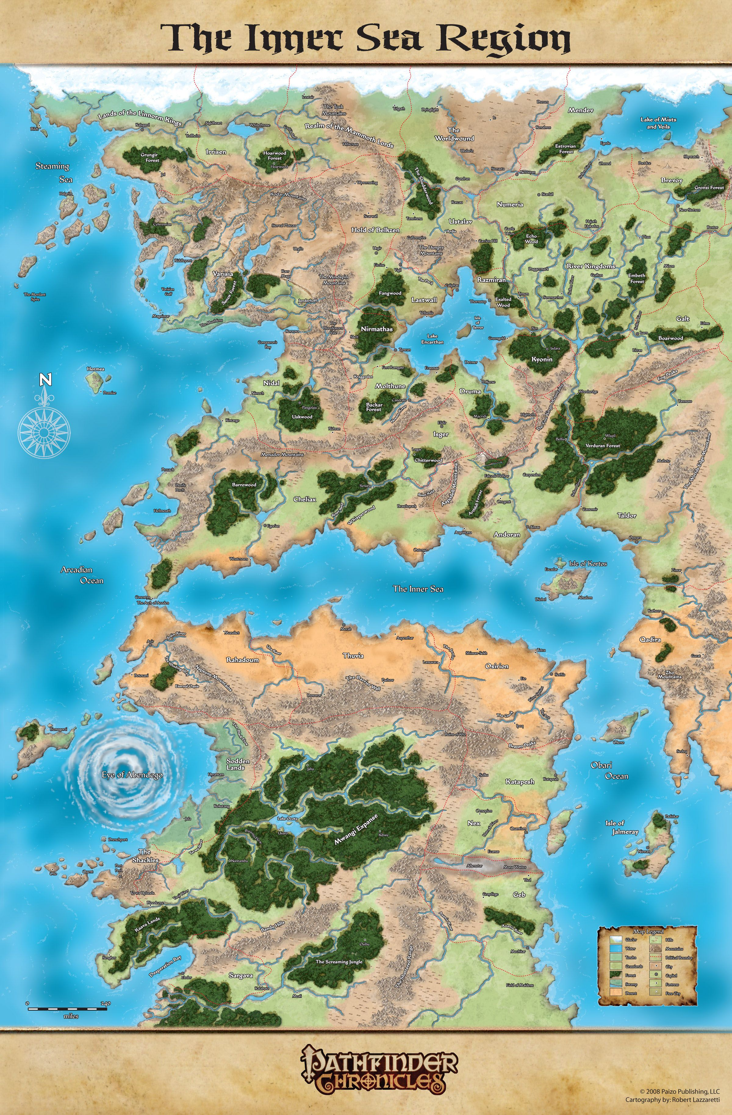 Inner Sea Map Inner Sea Region Golarion #map | Maps Fantasy and Otherwise in