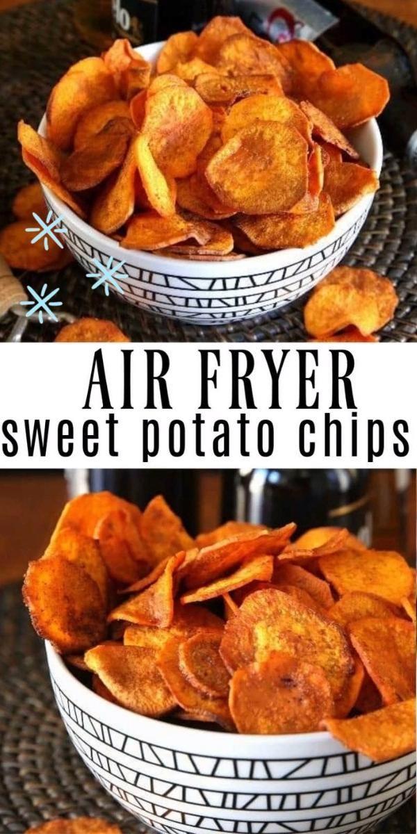 Air Fryer Sweet Potato Chips Video Air Fryer Recipes Healthy Air Fryer Dinner Recipes Air Fryer Recipes Easy