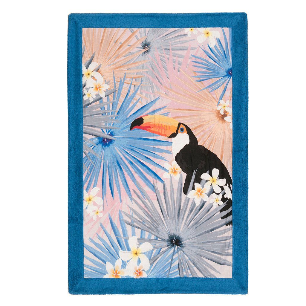 Toucan In Love Signature Beach Towel Sun Of A Beach Beach Towel Designer Beach Towels Beach Towels