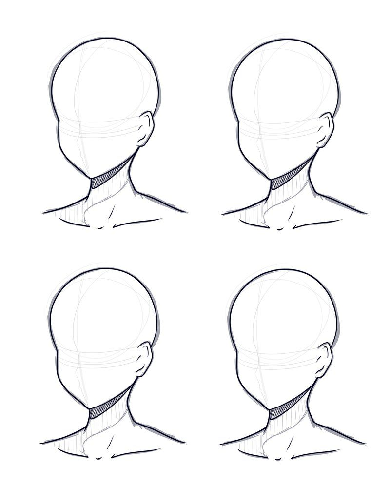 Head Design Base Sketch And Lineart By Kitsunetsukiko Deviantart Com On Deviantart Anime Drawings Tutorials Anime Drawings Sketches Drawings