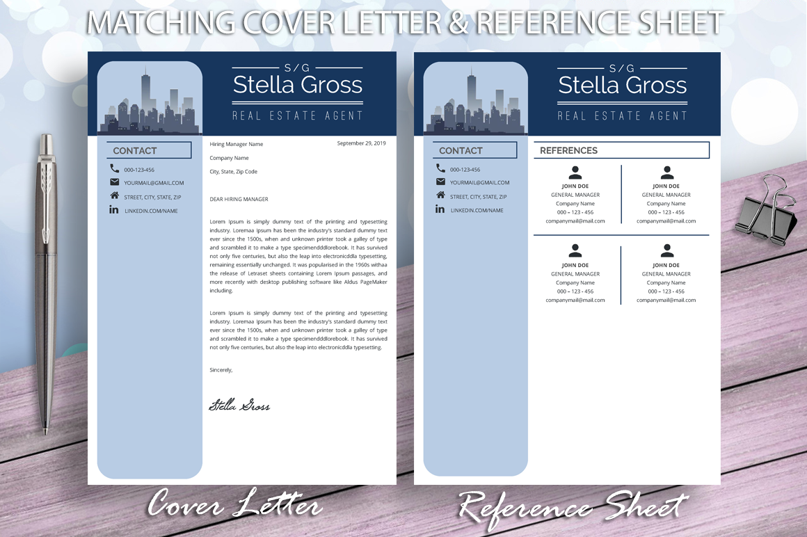 Realtor Resume Template, Real Estate Resume, Architect